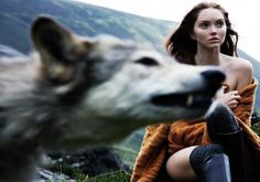 Title: Highland Tale Magazine: Above Fall/Winter 2010 Model: Lily Cole Photographer: Olaf Wipperfürth Stylist: Lilly Marthe Ebener Old editorial, but I find it very inspirational. More images/original post. Lily Cole, Olaf, Story Inspiration, Writing Inspiration, Character Inspiration, She Wolf, Wolf Girl, Viviane Sassen, Tv Movie