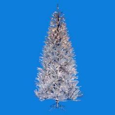 Silver Ice Pre-lit Christmas Tree $359.99. Found at ChristmasTreesGalore.com