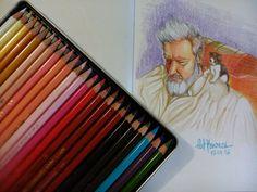 Teste feito com o lápis de cor Polycolor, Seleção Retrato, da Koh-I-Noor (que virou minha queridinha, rs).