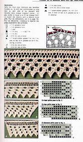 Tricot My: Barrados Leaf Knitting Pattern, Knitting Charts, Lace Knitting, Knitting Stitches, Stitch Patterns, Knitting Patterns, Tunisian Crochet, Filet Crochet, Knit Crochet