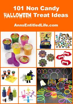 101 Non Candy Halloween Treat Ideas; Need alternatives to candy this Halloween for school or house parties or to hand out to trick or treaters? This list of 101 Non Candy Halloween Treat Ideas has something for everyone. http://www.annsentitledlife.com/library-reading/101-non-candy-halloween-treat-ideas/