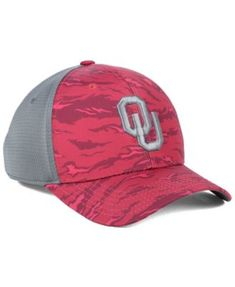 quality design 46077 d64fa Top of the World Oklahoma Sooners Tiger Camo Flex Stretch Fitted Cap - Red  S M
