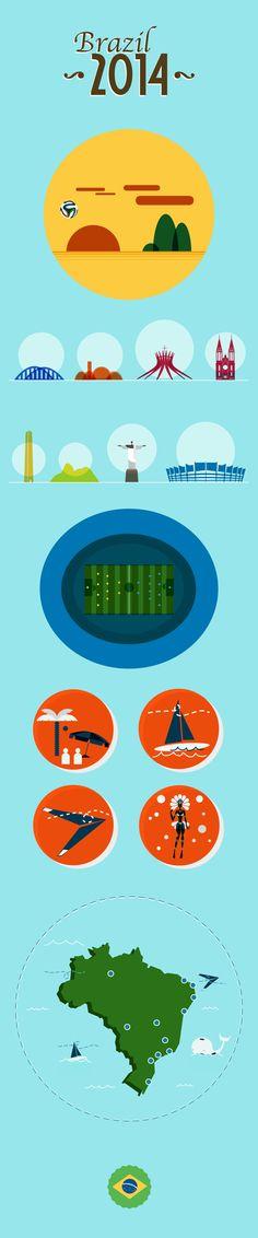 e como pode-se ver, conhecem tanto o Brasil, que virou até uma ilha!  (Brazil World Cup 2014 on Behance)