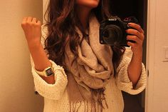 scarf and sweater.