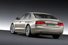 Audi A8 Gold and Gray