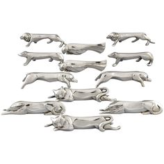Art Deco Animal Knife Rests Designed by Sandoz for Gallia Christofle, 1930 | From a unique collection of antique and modern sheffield and silverplate at https://www.1stdibs.com/furniture/dining-entertaining/sheffield-silverplate/
