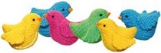 Cómo tejer pajaritos en dos agujas o palitos! Free Crochet, Knit Crochet, Diy Toys, Lana, Free Pattern, Dinosaur Stuffed Animal, Projects To Try, Birds, Wool