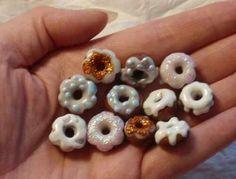 Fimo Modellieranleitung Miniaturdonuts mit Guss