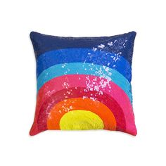 Bring bold colour to your home with this vibrant Nico Sunrise cushion from Jonathan Adler. Crafted by hand in a rainbow of brightly coloured sequins, it features a unique sunrise pattern and instan...