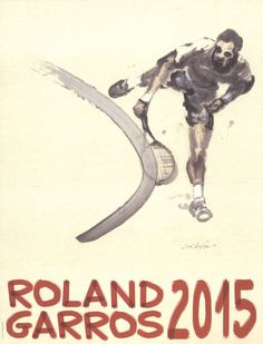 Vintage 1985 Roland Garros French Open Tennis Poster  A3 Print