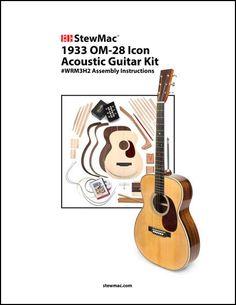 1933 Pre War Om 28 Acoustic Guitar Kit 009 Stewmac Com In 2020 Acoustic Guitar Kits Guitar Kits Guitar