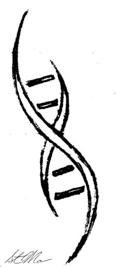 dna tattoo by