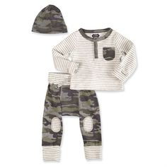 Mud Pie Camo Take Home Set| Cute Woodland Theme Baby Clothes for Boys at Sugar Babies Boutique!