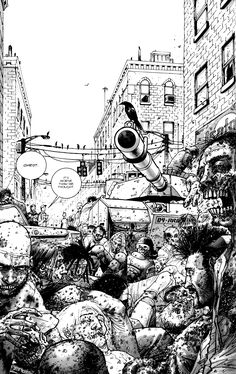 The Walking Dead comic illustration