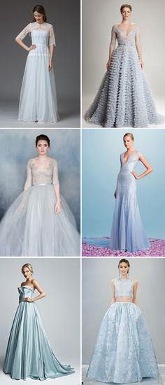 Designer Blue Wedding Dresses    see more beautiful blue wedding dress on www.onefabday.com