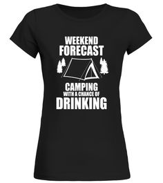 818aecd54 Funny Camping T Shirt Camping with a Chance of Drinking Mountain Biking T-shirt  Funny
