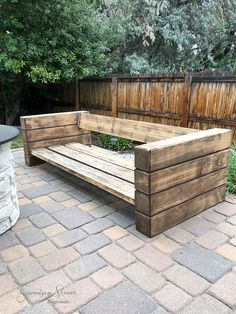 Outdoor Furniture Plans, Diy Garden Furniture, Outdoor Sofa, Outdoor Living, Outdoor Decor, Backyard Seating, Backyard Patio, Patio Decorating Ideas On A Budget, Patio Ideas