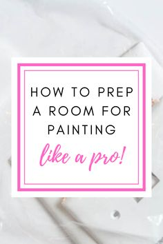 Save yourself time and headache by using these tips and tricks to prep your room for paint! Painting is quite a laborious job so be sure you prep correctly. Preparing Walls For Painting, Painting Tips, Painting Walls, Home Decor Bedroom, Diy Home Decor, Home Upgrades, Do It Yourself Projects, Diy Home Improvement, Home Repair