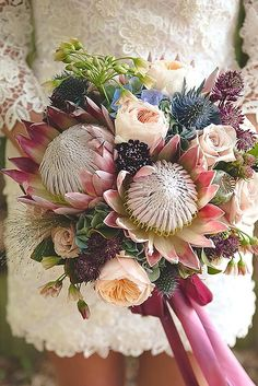 24 Wedding Bouquets That Are Beautiful And Unique ❤ See more: http://www.weddingforward.com/beautiful-wedding-bouquets/