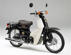 Super CUB 50cc Moped, Super Club, Retro Scooter, Honda Cub, Honda Bikes, Motorized Bicycle, Motorcycle Engine, Classic Motors, Mini Bike