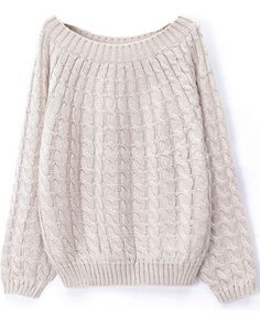 off shoulder cable knit sweater $19