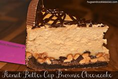 peanut butter cup cheesecake reeses Wholly crap...this looks good, but I had better lose about 50+lbs if I'm ever going to try this.
