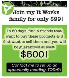 I have 3 spots for anyone looking to make extra money✅. This can be a life changing and exciting experience!. Click on link to message me, or sign up. I can contact you if you'd like and show you how. Or you could just sign up as a loyal customer and get my whole sale pricing for life!!  Dreams can become reality!  All you have to do is take that first step!   Changing lives. One family at a time