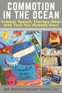 summer speech therapy commotion in the ocean book cariboo preschool special education Preschool Speech Therapy, Preschool Songs, Speech Language Therapy, Speech And Language, Speech Pathology, Articulation Therapy, Articulation Activities, Preschool Themes, Music Therapy