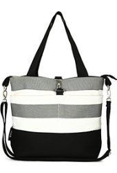 Compact Mommy Tote Bag - Best Designer Ladies Handbag for Toddlers (Also Fits Baby Diapers)