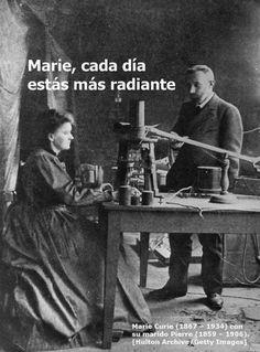 Marie curie cada día más radiante. Más en http://www.lasfotosmasgraciosas.com/carteles.html