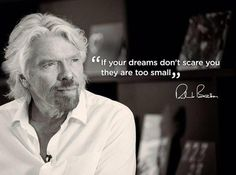 Top 30 inspirational quotes from Richard Branson. From high school dropout to multi-billionaire, Richard Branson has an incredible history and many inspirational quotes on entrepreneurialism Richard Branson Zitate, Richard Branson Quotes, Dream Quotes, Quotes To Live By, Life Quotes, Best Motivational Quotes, Positive Quotes, Inspirational Quotes, Positive Affirmations