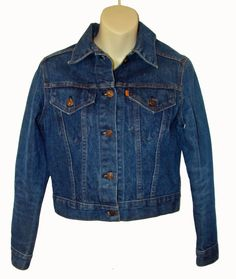 Vtg Levis Trucker Jacket Orange Tab 760010214 Womens Size: S EUC #Levis #JeanJacket