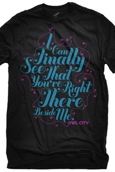 Beside Me T-Shirt - Owl City T-Shirts - Official Online Store on District Lines