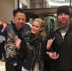 Dean Ambrose and Renee Young with Nakamura
