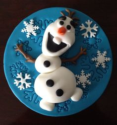 Disneys Frozen Olaf Cake Topper - 6  Hand Made  - Pick Up M1 - 37