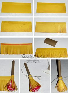 Tammie Stamps: Broom Lollipops, fun easy treats. These treats are easy to make, check my blog for more