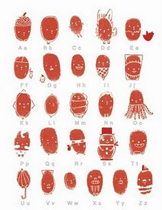 Thumbprint Alphabet