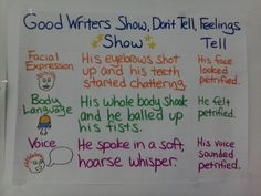 Writers Show, Don't Tell Their Feelings