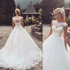 New White/Ivory Bridal Gown Wedding Dress Custom Made Size 6 8 10 12 14 16 18