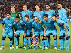 Picture: Starting line-up Barcelona #fcblive [via @fcb_onetouch]