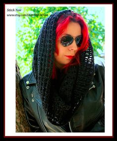 Skull Cowl  wrap a scarf a hood...when you only need a bit of warm!  by StitchNoir, $49.99