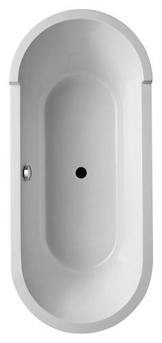 Duravit Starck Freestanding Paneled Oval Bathtub 70 Inch