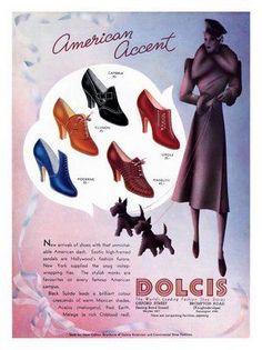 1930s Women's Fashion Shoes | Pin by Banu Birecikligil on Vintage Shoes | Pinterest