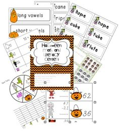 Halloween Math and Literacy Centers... perfect for second grade $2