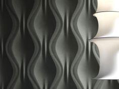 Pannello con effetti tridimensionali ONDA by 3D Surface design Jacopo Cecchi, Romano Zenoni