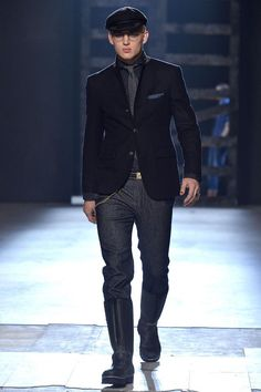 Model @sebastiansauve for Michael Bastian Fall/Winter 2013 | New York Fashion Week