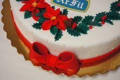 Menina Framboesa: bolos de Natal | Christmas cakes #poinsettia