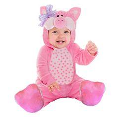goodmark pink little piggy infant baby halloween plush costume m