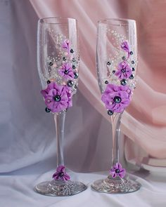 Wine wedding glasses