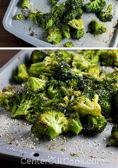 Fresh BROCCOLI is tossed with GARLIC, evoo, and some seasonings, then gets ROASTED until perfectly tender! Next it gets a sprinkle of fresh PARMESAN cheese. A fantastic side, for sure that will make a broccoli lover out of anyone!